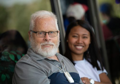 Cheyenne Village clients were treated to an afternoon in a suite at a Vibes baseball game Sunday, August 18, 2019. Photo by Mark Reis